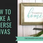 How to Make a Quick & Easy Reverse Canvas