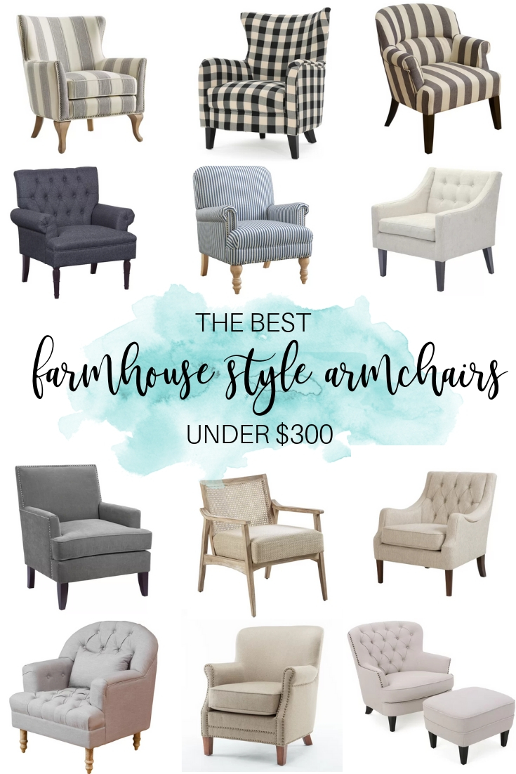 The 12 Best Farmhouse Style Armchairs for Under $300