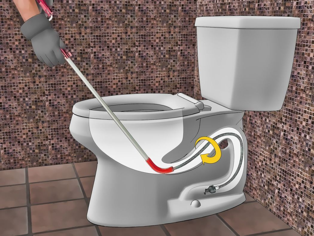 Unclogging a toilet